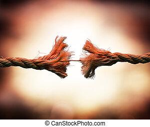 tensão, cadeia, -, quebrada, conceito