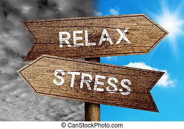 tensão, ou, relaxe