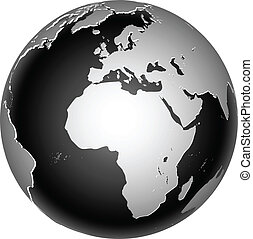 terra planeta, global, ícone, mundo