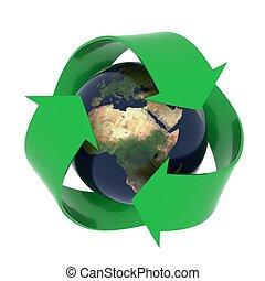 terra, símbolo, reciclagem
