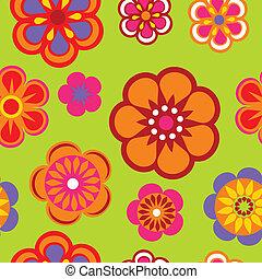 teste padrão flor, seamless, fundo