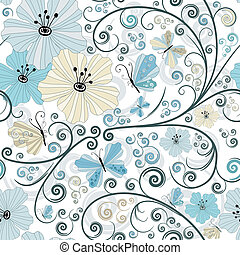 teste padrão pastel, seamless, floral