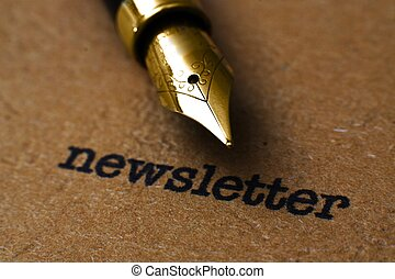 texto, caneta de tinta permanente, newsletter