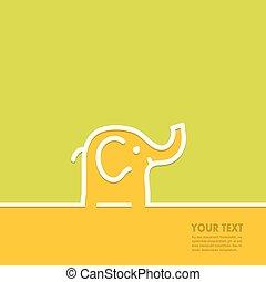 texto, linha, elefante, forma, espaço