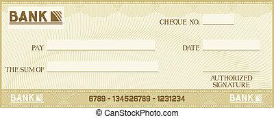texto, próprio, seu, cheque, espaço