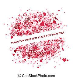 texto, quadro, valentine, desenho, lugar, seu