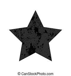 textura, afligido, grunge, estrela, arranhado