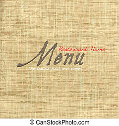 textura, cartão papel, antigas, menu, desenho