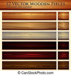 textura madeira, fundo, ilustração, seamless