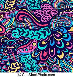 textura, verão, template., experiência., pattern., backdrop., teia, padrão, página, seamless, vetorial, infinito, luminoso, abstratos, étnico, fundo, papel parede, flowers., enche, uso