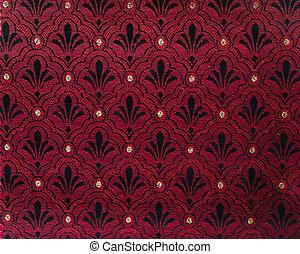 textura, vermelho, tecido