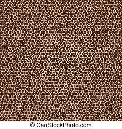 texturas, girafa, vetorial, pele animal