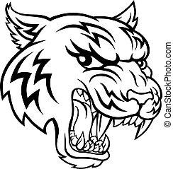 tiger, animal, mascote, caricatura
