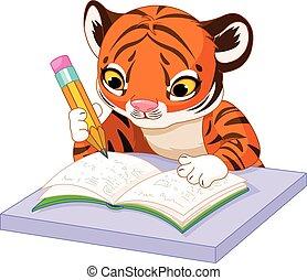 tiger, aprende
