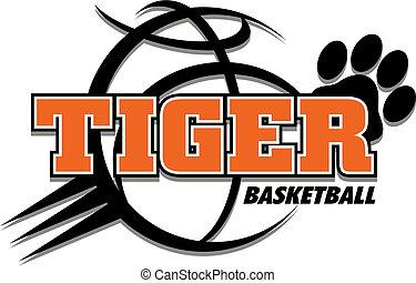 tiger, basquetebol, desenho