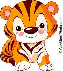 tiger, divertimento, zoo.
