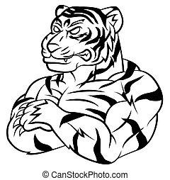tiger, forte, mascote