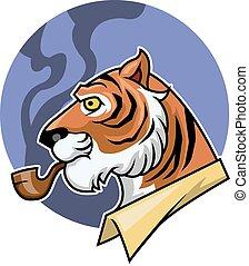 tiger, fumar