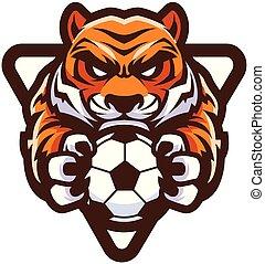 tiger, futebol americano futebol, mascote
