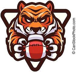 tiger, futebol americano, mascote