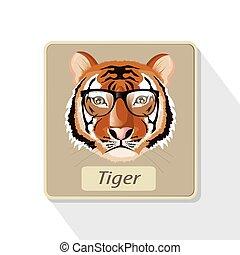 tiger, illustration.