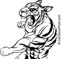 tiger, luta, mascote
