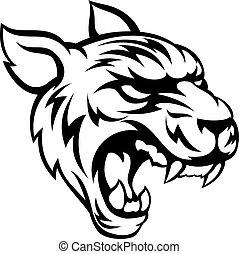 tiger, má, animal, mascote