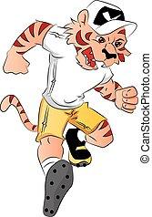 tiger, mascot., vetorial