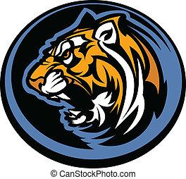 tiger, mascote, gráfico
