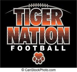 tiger, nação, futebol