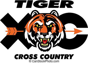 tiger, país, desenho, crucifixos