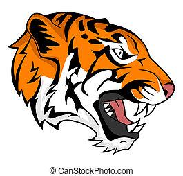 tiger, rugido