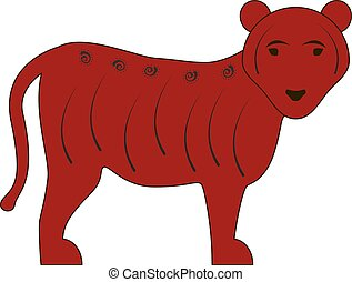 tiger, símbolo zodíaco, chinês, vermelho