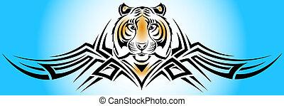 tiger, tribal