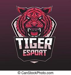 tiger, vermelho