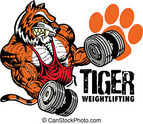 tiger, weightlifting