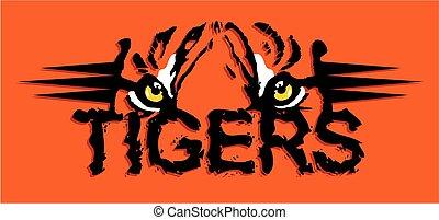 tigres, desenho