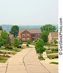 tijolo, residencial, dois, lares, história