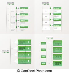 timeline, item, gradiente, cor, verde, 4, desenho