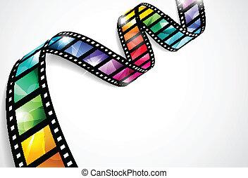 tiras, coloridos, película