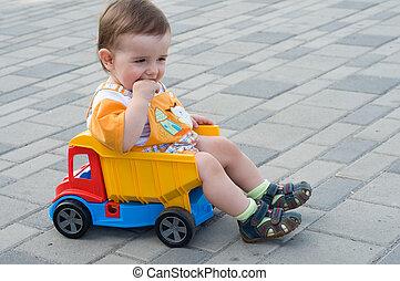 toddler, caminhão