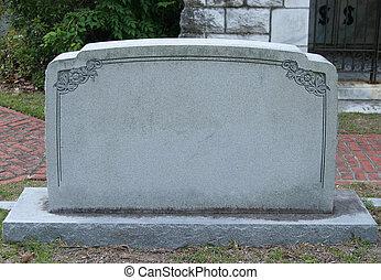 tombstone, em branco