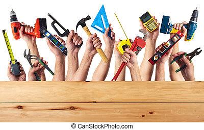 tools., diy, mãos