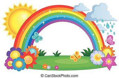 topic, arco íris, imagem, 2