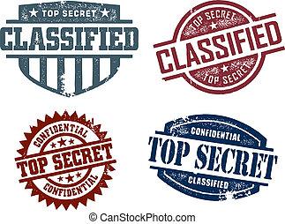 topo, classificado, segredo, selos