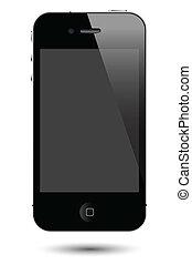 toque, smartphone, vetorial, tela