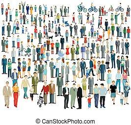 torcida, diferente, people.eps, grande