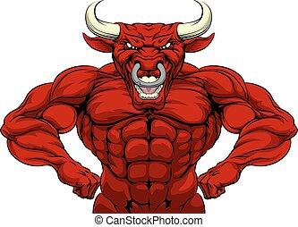 touro, esportes, mascote