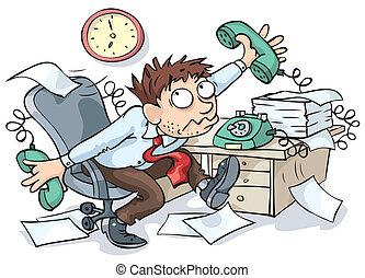 trabalhador, escritório