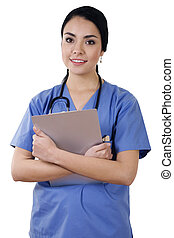 trabalhador saúde, femininas, cuidado